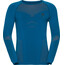 Odlo Evolution Warm Shirt L/S Crew Neck Men mykonos blue/orangeade
